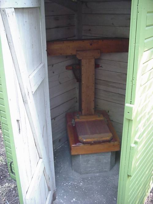 Outhouse inside
