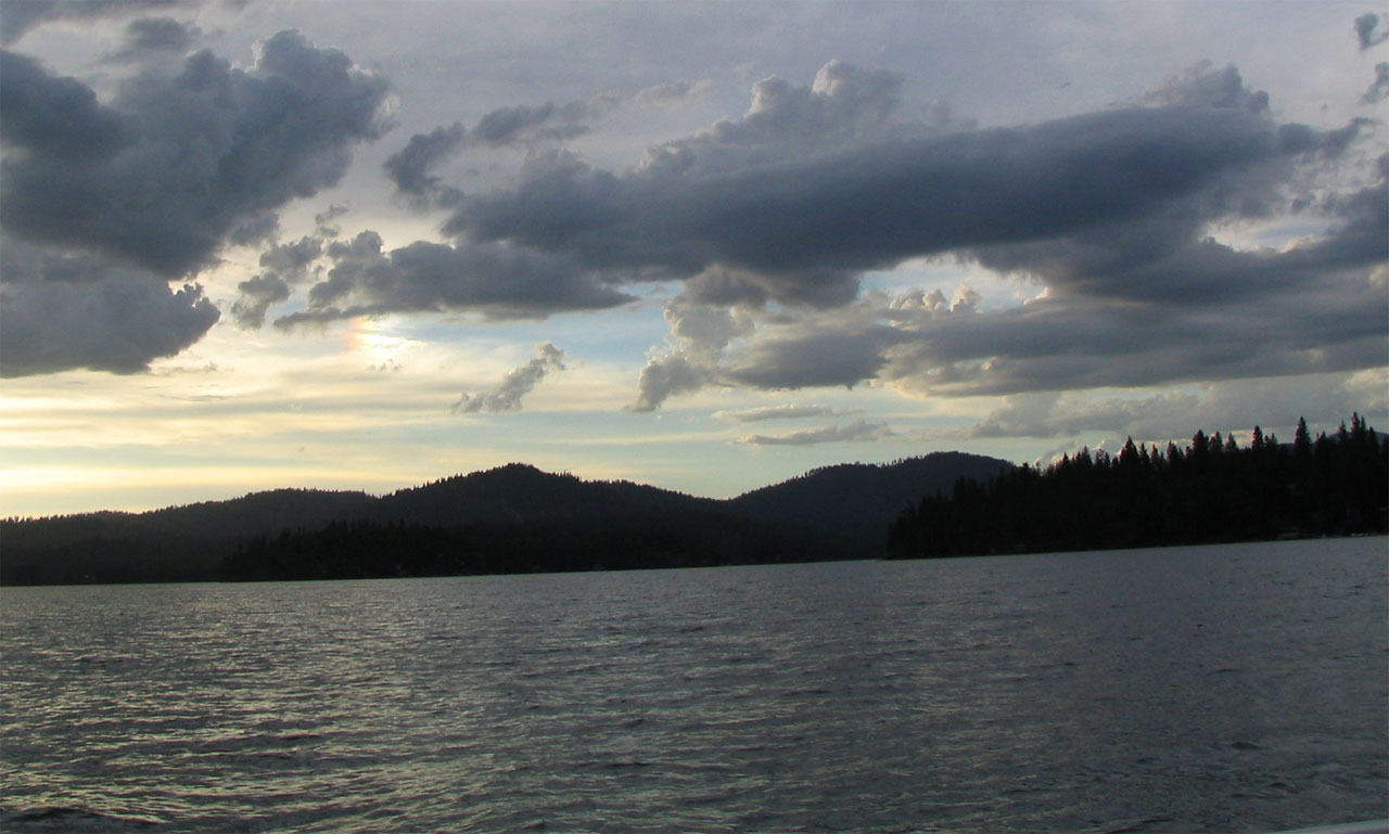 Newman Lake clouds