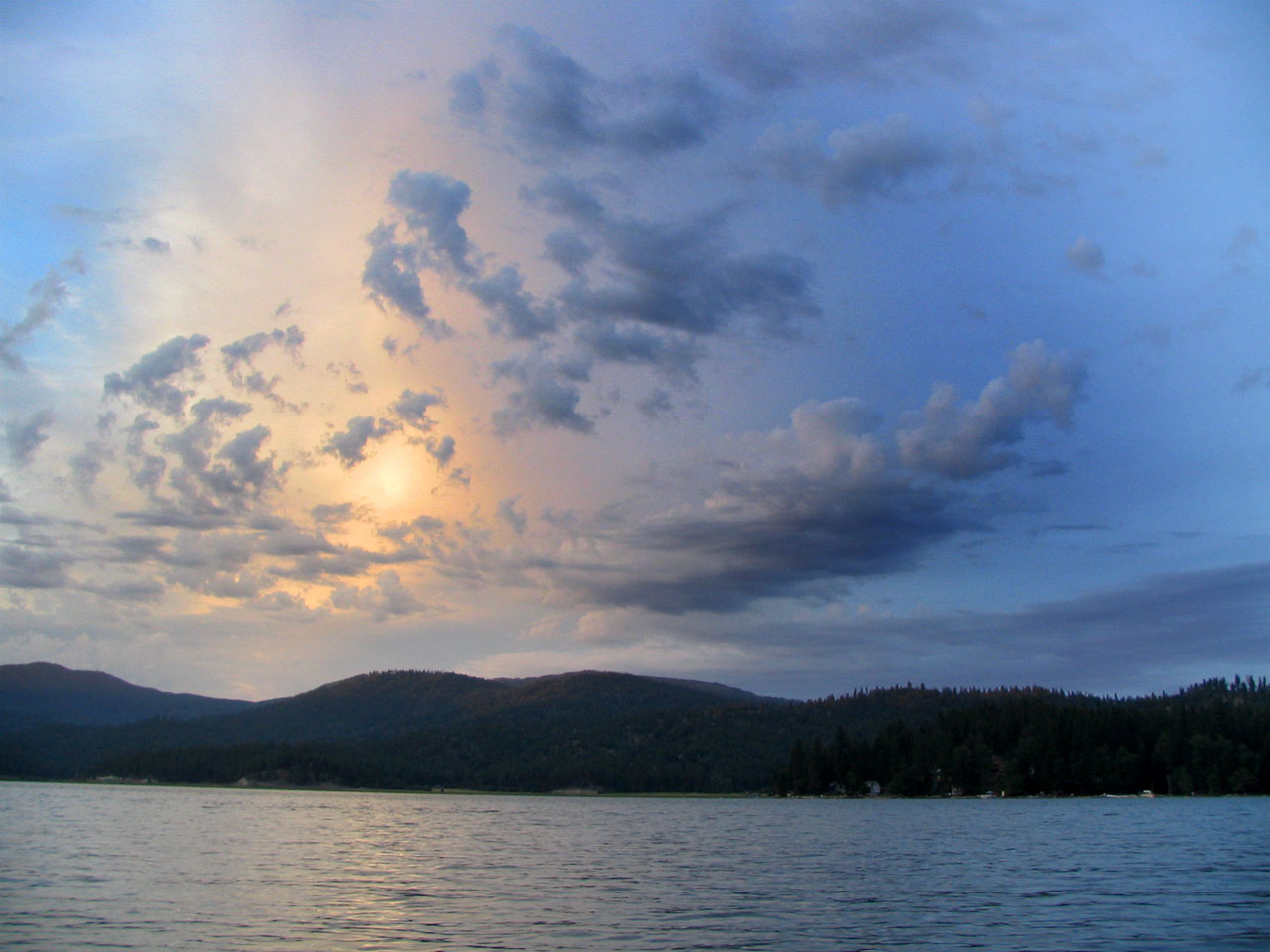 Newman Lake clouds 2