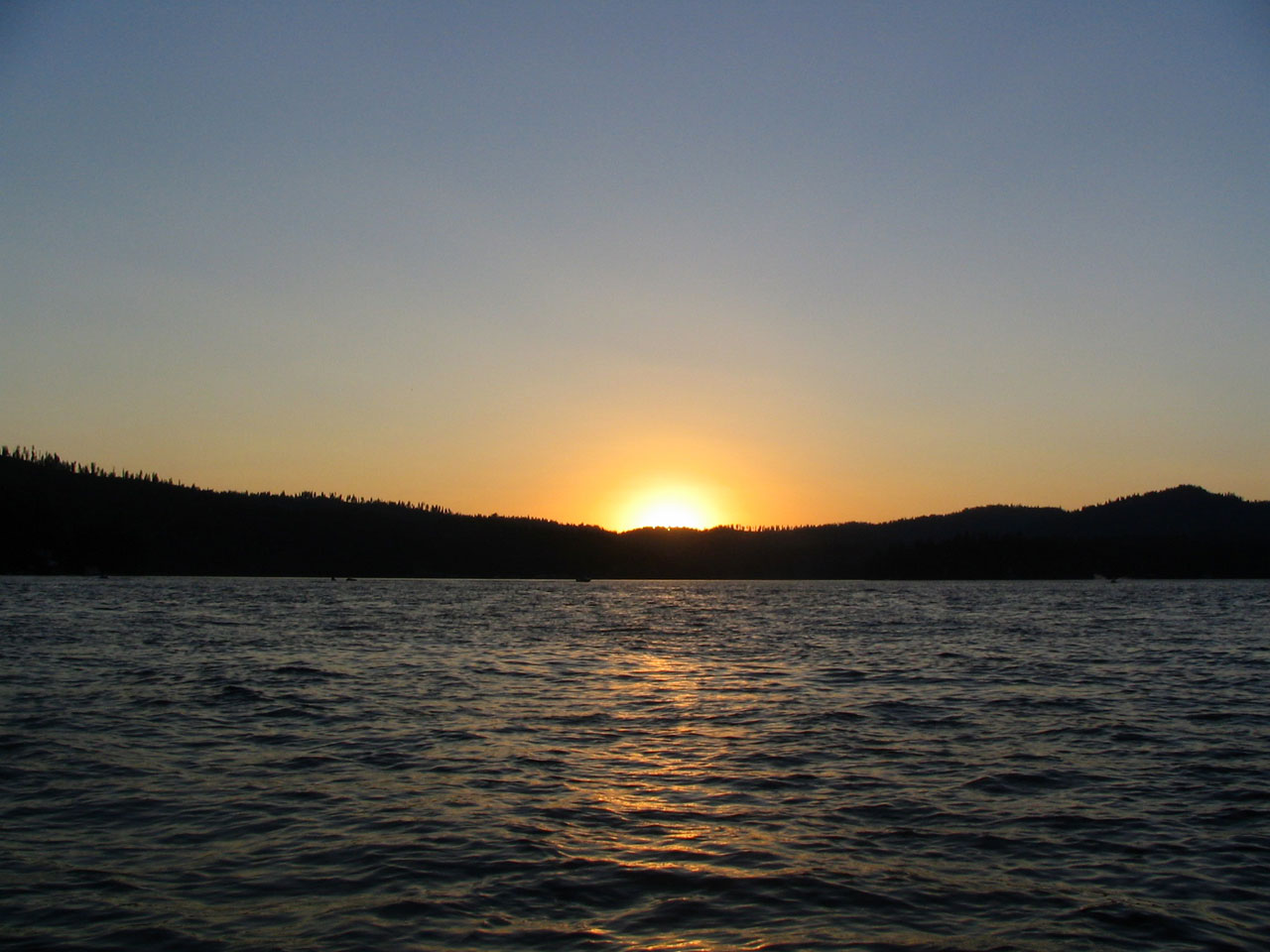 Newman Lake sunset 2